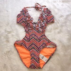 Wet Seal tribal one piece swimsuit NWT